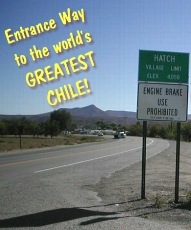 Hatch, New Mexico - the world's BEST CHILI/CHILE!